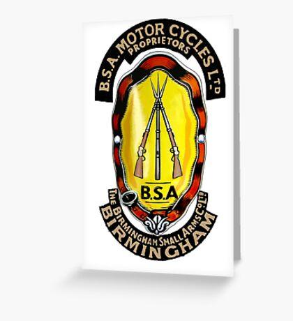 BSA Birmingham Small Arms Motorcycles UK Greeting Card