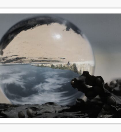 Danes Dyke Through a Glass Ball Sticker