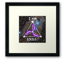 Sirius Symbology - I am Sirius! Framed Print