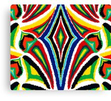Color Ikat Background Canvas Print