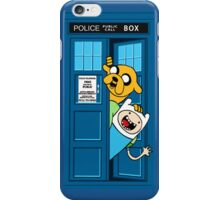 Finn and Jake Police Box iPhone Case/Skin