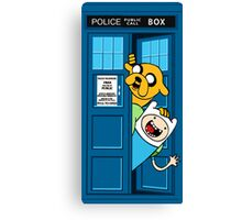 Finn and Jake Police Box Canvas Print