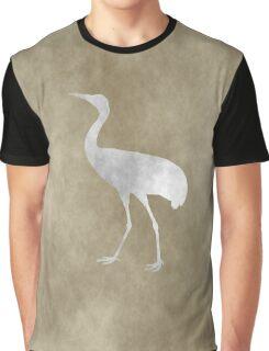 Grunge Crane Graphic T-Shirt