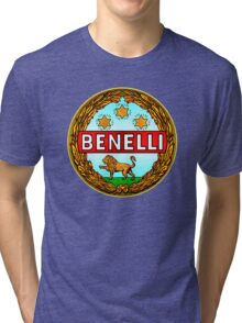 Benelli Vintage motorcycle Italy Tri-blend T-Shirt