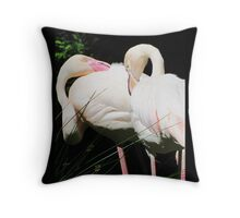 Flamingo birds design Throw Pillow