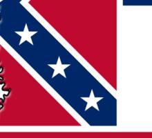 Mississippi State Flag & Outline Sticker