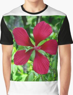 Big Red Flower Graphic T-Shirt