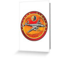 Eastern Airlines Constellation USA VINTAGE AIRLINE SIGN Greeting Card