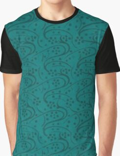 Vintage Swirls Turquoise Teal Floral Graphic T-Shirt