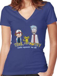 Rick and Morty - Gazorpazorpmon Women's Fitted V-Neck T-Shirt