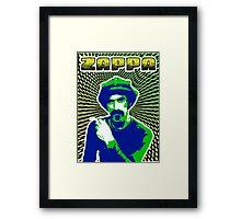 Frank Zappa Blacklight Framed Print
