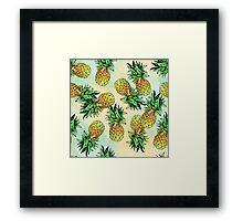 Pineapple Pattern Framed Print