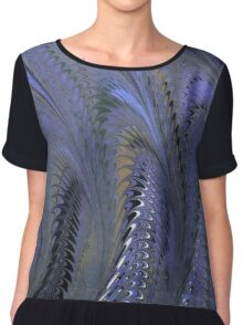 Retro Marbleized Waves Chiffon Top