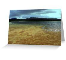 Sand bar Greeting Card