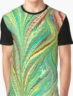 Marbleized Retro Waves Graphic T-Shirt
