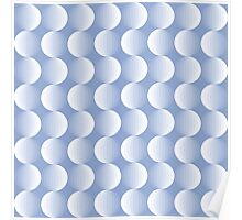 Geometric pattern with circles in serenity Poster