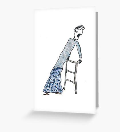 Fragile Frida (one-line #122) Greeting Card