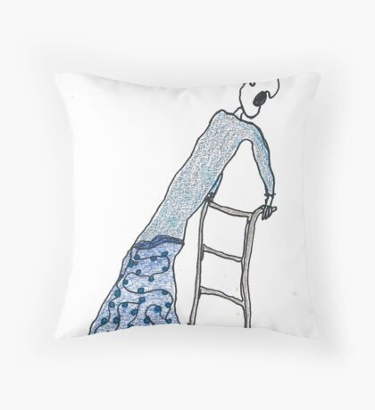 Fragile Frida (one-line #122) Throw Pillow