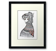 Goldfish Girl Framed Print