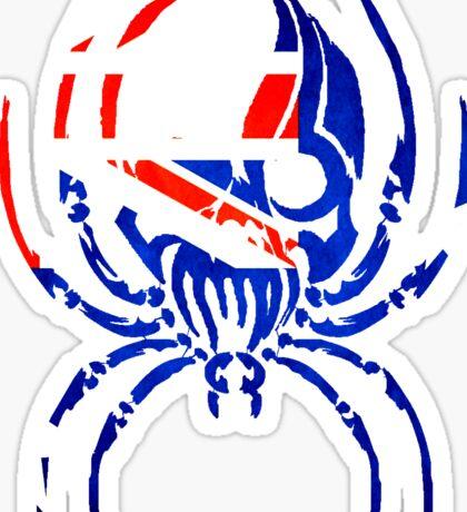 AUSTRALIA SPIDER SKULL FLAG Sticker