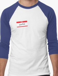 Hello My Name Is Juan Deag Men's Baseball ¾ T-Shirt