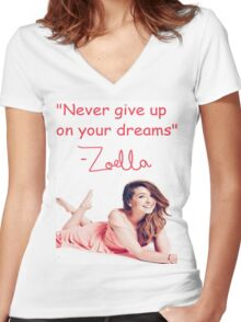 Zoella - DREAMS Women's Fitted V-Neck T-Shirt