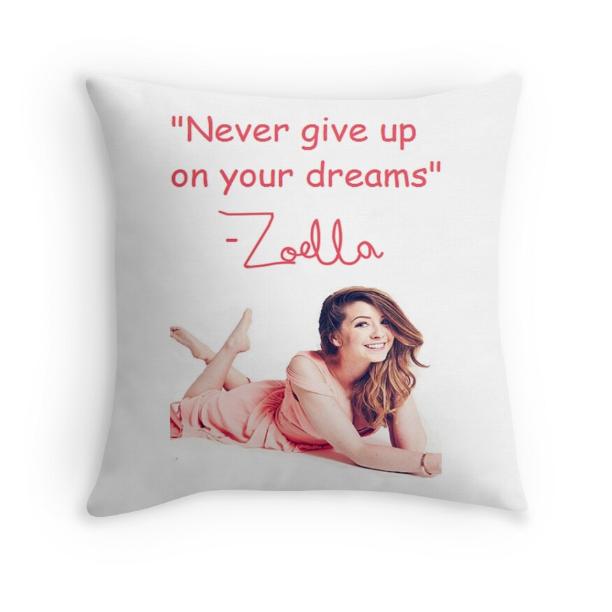 Zoella Throw Pillows : Zoella Sugg: Throw Pillows Redbubble