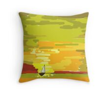 So small on the water Throw Pillow