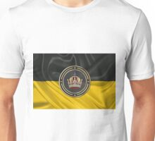 Imperial Crown of Austria over Flag of the Habsburg Monarchy Unisex T-Shirt