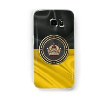 Imperial Crown of Austria over Flag of the Habsburg Monarchy Samsung Galaxy Case/Skin