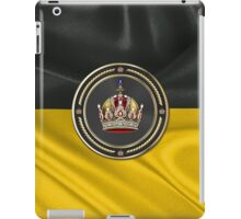 Imperial Crown of Austria over Flag of the Habsburg Monarchy iPad Case/Skin