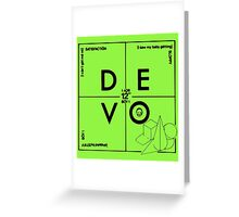 Devo Greeting Card