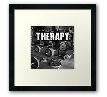 Lifting Is My Therapy Framed Print
