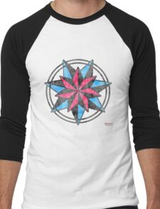 Double Seven Pointed Star - Appalachian Folk Art Men's Baseball ¾ T-Shirt