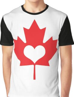 Canadian Heart Graphic T-Shirt