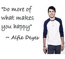 Alfie Deyes - HAPPY Photographic Print