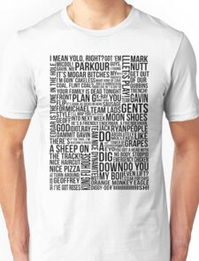 Achievement Hunter Quotes Unisex T-Shirt