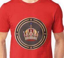 Imperial Crown of Austria over Red Velvet Unisex T-Shirt