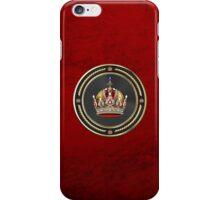 Imperial Crown of Austria over Red Velvet iPhone Case/Skin