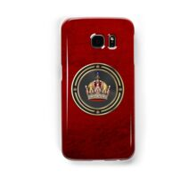 Imperial Crown of Austria over Red Velvet Samsung Galaxy Case/Skin
