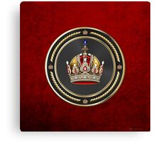 Imperial Crown of Austria over Red Velvet Canvas Print