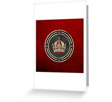 Imperial Crown of Austria over Red Velvet Greeting Card