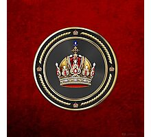 Imperial Crown of Austria over Red Velvet Photographic Print