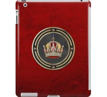 Imperial Crown of Austria over Red Velvet iPad Case/Skin