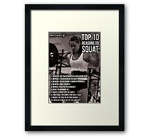 Top 10 Reasons For Women To Squat Framed Print