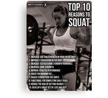 Top 10 Reasons For Women To Squat Canvas Print