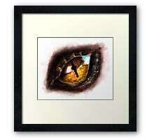 Fire Dragon Eye Framed Print