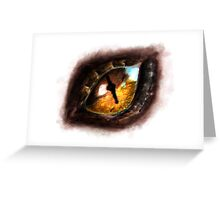 Fire Dragon Eye Greeting Card