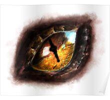 Fire Dragon Eye Poster