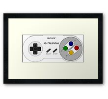 SNES PLAYSTATION Framed Print